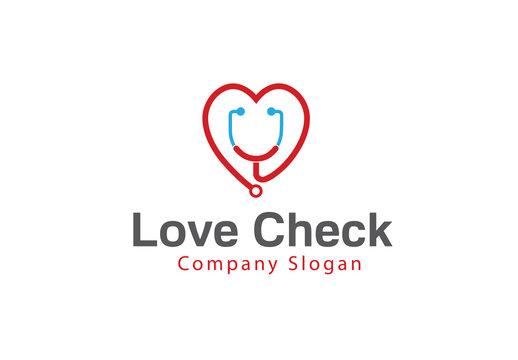 Love Check Logo template