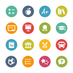 Education Icons, Circle Series