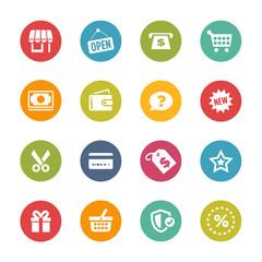 Shopping Icons, Circle Series