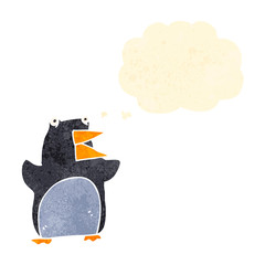 funny cartoon penguin