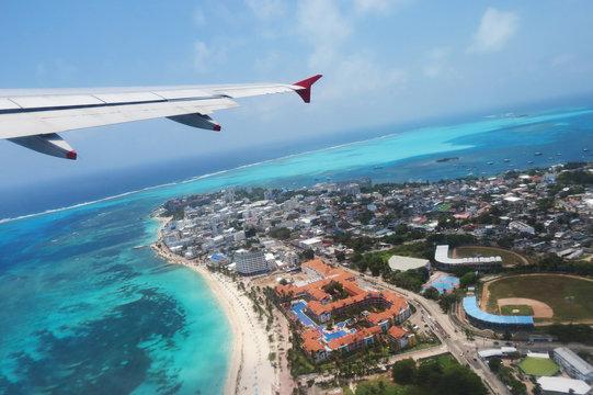 Vista aérea de San Andrés