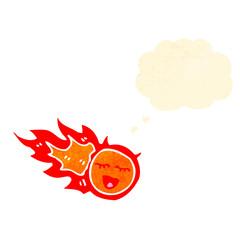 retro cartoon fireball