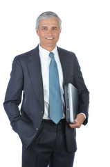 Businessman Carrying Laptop