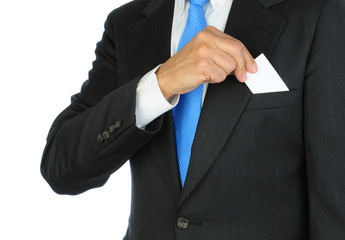 Businessman Taking Card From Pocket