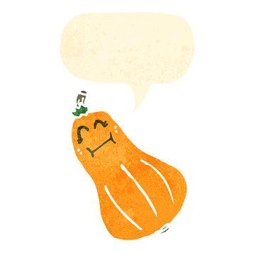 retro cartoon butternut squash