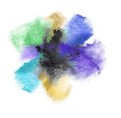 powder splash isolated on white background