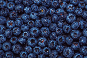 Healthy blueberries background