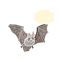 retro cartoon bat