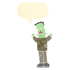 retro cartoon frankenstein's monster