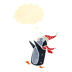 retro cartoon dancing penguin