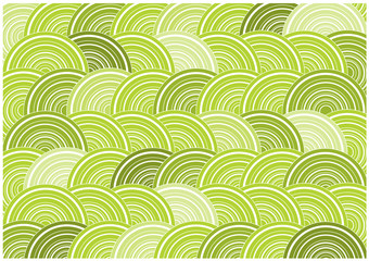 retro vector background with green circles