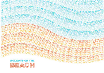 scribble vector summer background