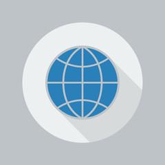 Eco Flat Icon. Globe
