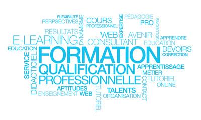E-learning formation apprentissage en ligne illustration qualification professionnelle