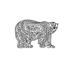 Polar Bear zentangle