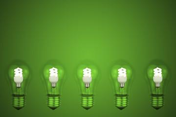 60 watt light bulb with a small Low energy light bulbs