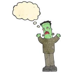 retro cartoon frankenstein monster