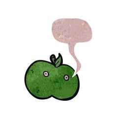 cartoon talking apple