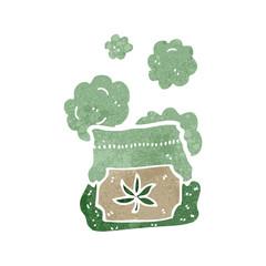 retro cartoon bag of weed