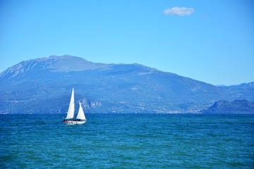 Garda lake yacht
