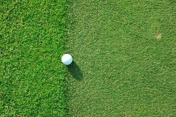 Golf ball sitting on apron fringe