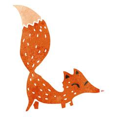 retro cartoon fox
