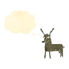 retro cartoon deer