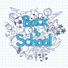 Sketch Back to School Background.