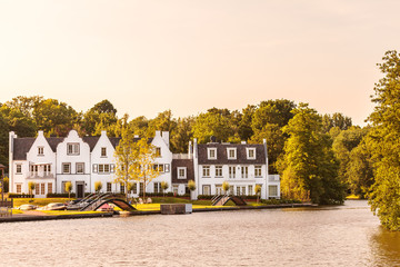 Houses alongside the Dutch Vecht river
