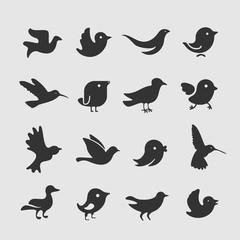 Vector Set of bird symbols