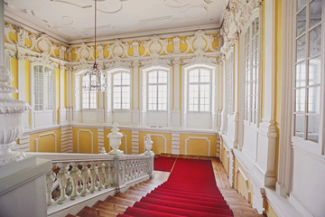 neoclassical marble stairs in Rundale palace, Latvia