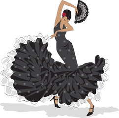 Flamenco dancer with fan