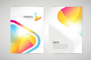 Vector brochure template. Abstract arrow design and creative