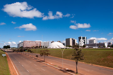 Skyline of Brasilia, the Capital City of Brazil