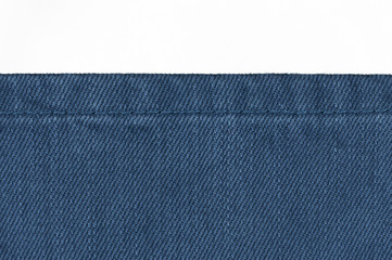 Jeans background on white