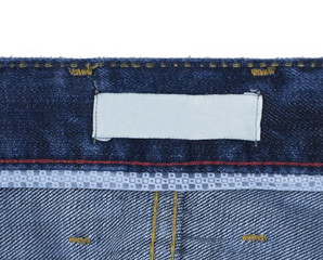 jeans back tag