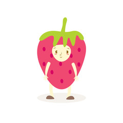 Cute strawberry costumes fruit kids.