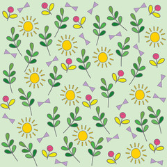Summer floral seamless background.
