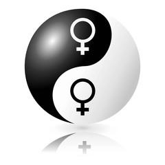 Yin and Yang Love Female-Female