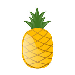 Vector Illustration of a Fresh Pineapple