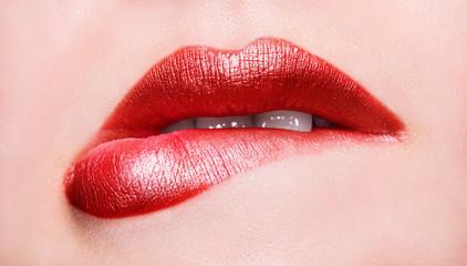 lips. Macro beauty shot.