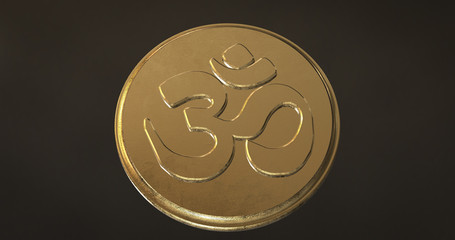 OM Symbol for meditation and relaxation.