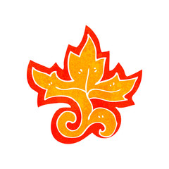 retro cartoon flame decorative element