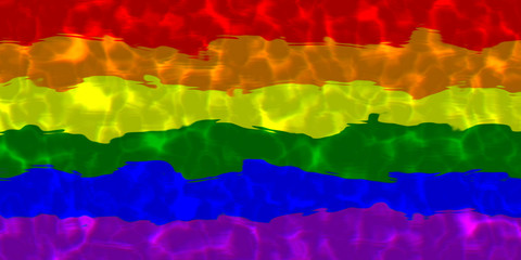 LGBT flag in water