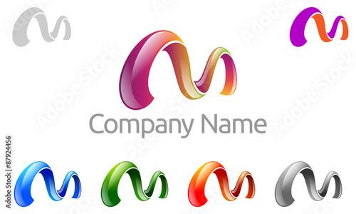 """M Logo 3d """"M, m lett..."""