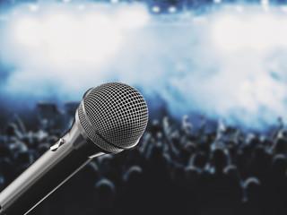 Microfono sfondo concerto