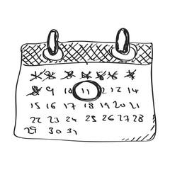 Simple doodle of a calendar