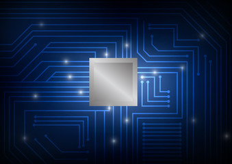 Vector : Electronic circuit