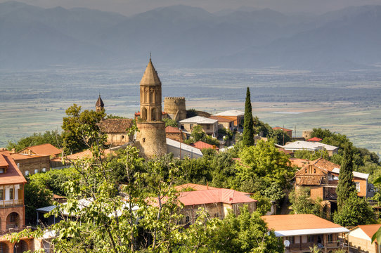 View over the town of Sighnaghi, Georgia