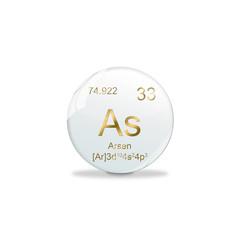 Periodensystem Kugel - 33 Arsen